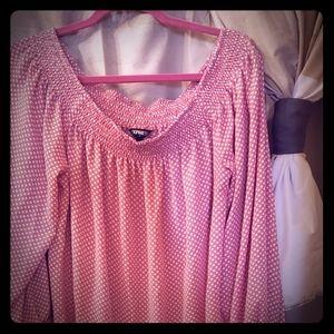 Off the shoulder express blouse